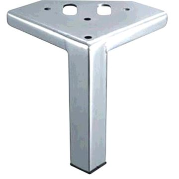Designs of Distinction 5 Inch Chrome Square Corner Furniture Leg