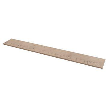 Designs of Distinction 8 x 36 Inch Rustic Flat Hand Scraped Shelf