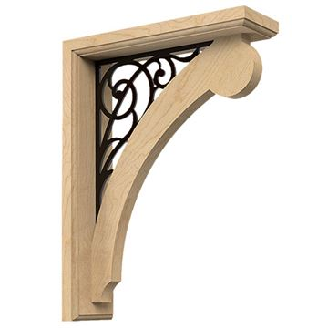 Designs of Distinction 9 Inch Bracket & Wrought Iron Baroque Insert