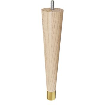 Designs of Distinction 9 Round Tapered Foot - Satin Brass & Bolt
