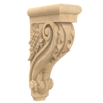 Designs of Distinction Hand Carved 13 Inch Grape Corbel