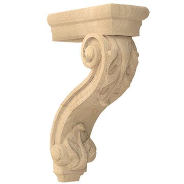 Designs of Distinction Hand Carved 13 Inch Pierced Acanthus Corbel