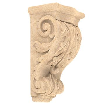Designs of Distinction Hand Carved 14 Inch Acanthus Corbel