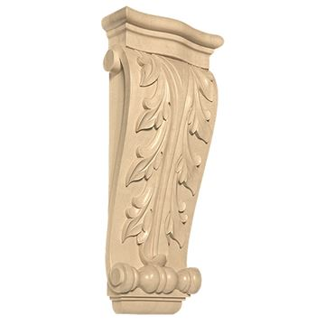 Designs of Distinction Hand Carved 15 Inch Elongated Acanthus Corbel