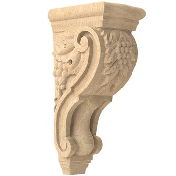 Designs of Distinction Hand Carved 15 Inch Grape Corbel