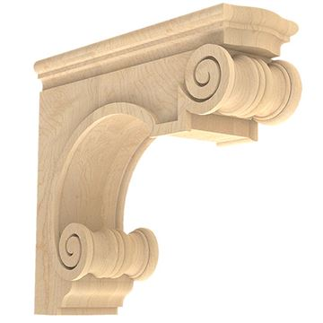 Designs of Distinction Hand Carved 16 Inch Traditional Hood Corbel