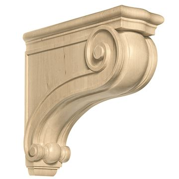 Designs of Distinction Hand Carved 17 Inch Corinthian Hood Corbel