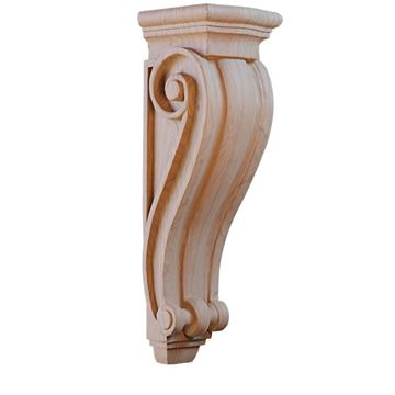 Designs of Distinction Hand Carved 26 1/2 Inch Corinthian Hood Corbel