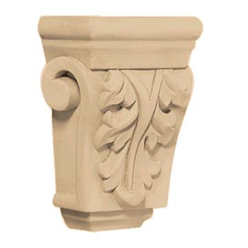 Designs of Distinction Hand Carved 4 1/2 Inch Acanthus Corbel