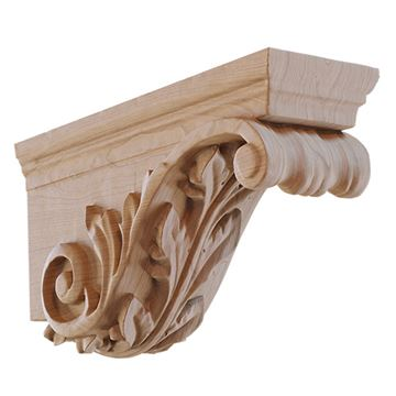 Designs of Distinction Hand Carved Acanthus Hood Corbel