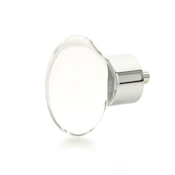 Schaub City Lights Oval Glass Cabinet Knob
