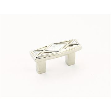 Schaub Crescendo Polished Nickel Mother of Pearl Small Cabinet Pull