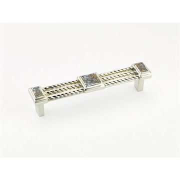 Schaub Interlude Polished Nickel Imperial Shell 4 1/2 Cabinet Pull