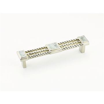 Schaub Interlude Polished Nickel Mother of Pearl 4 1/2 Cabinet Pull