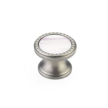 Schaub Kingsway Antique Nickel Champagne Glass Round Cabinet Knob