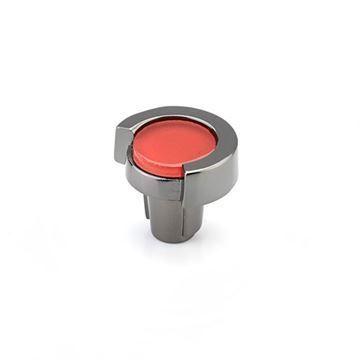 Schaub Tallmadge Black Nickel Rouge Glass Round Cabinet Knob