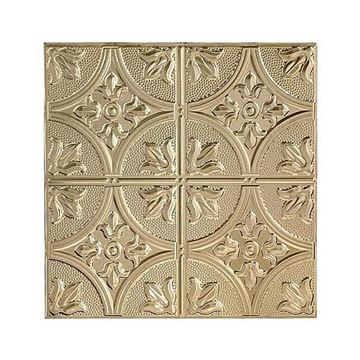 Shanko 12 Inch Circle & Leaf Ceiling Tin Tile