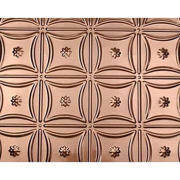 Shanko 6 Inch Floral Ring Backsplash - 24 x 48 Inch