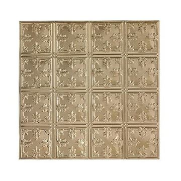 Shanko 6 Inch Square Leaf Ceiling Tin Tile