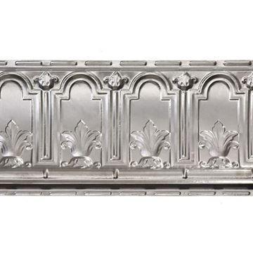 Shanko 9 1/2 Inch Arch & Leaf Steel Cornice
