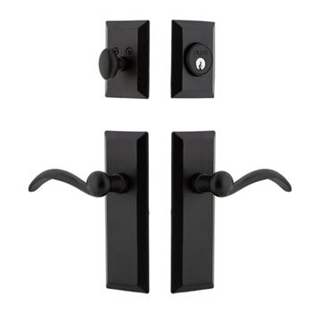 Ageless Iron Keep Entry Door Set - Tine Lever