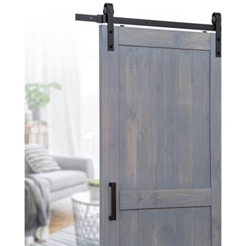 Ageless Iron Sliding Barn Door Hardware Kit - Handle Pull