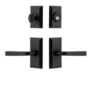 Ageless Iron Vale Plate Lance Lever Entry Door Set