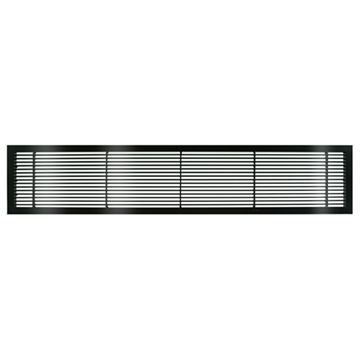Architectural Grille Black Gloss Bar Grille - No Deflection