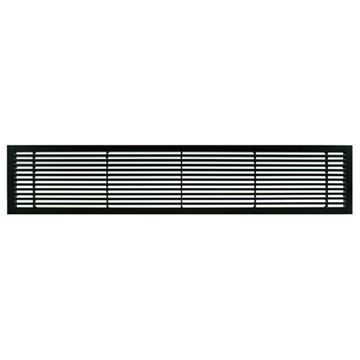 Architectural Grille Black Matte Bar Grille - 45 Deflection