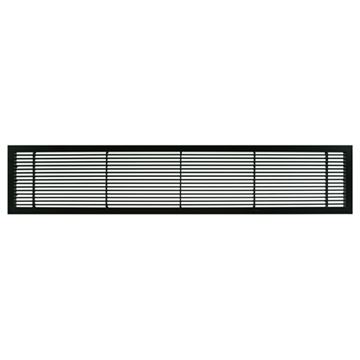 Architectural Grille Black Matte Bar Grille & Door - No Deflection