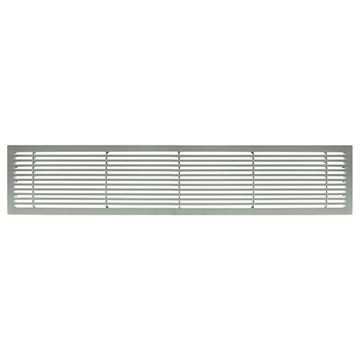 Architectural Grille Brushed Satin Aluminum Bar Grille - 45 Deflection