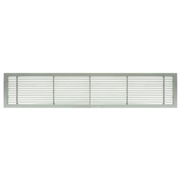 Architectural Grille Brushed Satin Aluminum Bar Grille - No Deflection