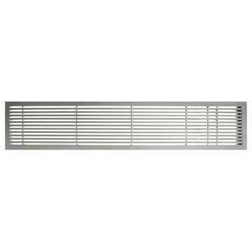 Architectural Grille Brushed Satin Bar Grille & Door - 45 Deflection