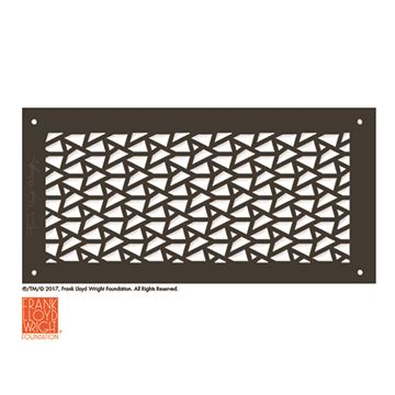 Architectural Grille Frank Lloyd Wright DeRhodes Facets Grille