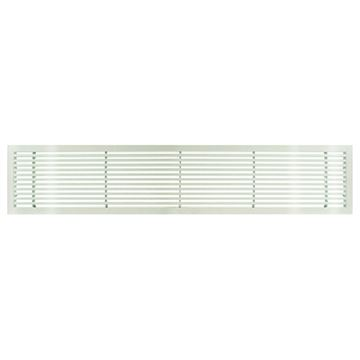Architectural Grille White Gloss Bar Grille - 45 Deflection