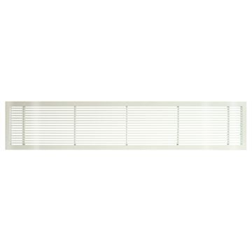 Architectural Grille White Gloss Bar Grille & Door - No Deflection