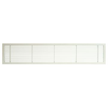 Architectural Grille White Matte Bar Grille & Door - No Deflection