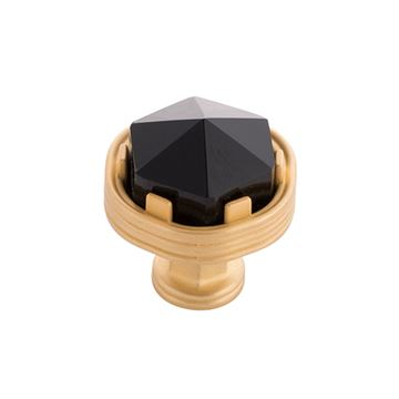 Belwith-Keeler Chrysalis Black Glass Knob