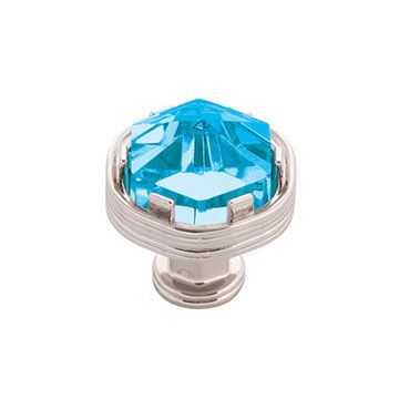 Belwith-Keeler Chrysalis Cerulean Glass Knob