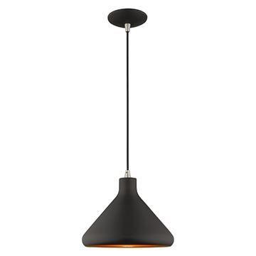 Livex Lighting 10 1/2 Inch Cone Metal Shade Mini Pendant