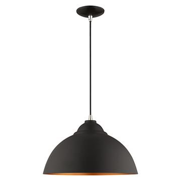 Livex Lighting 15 1/2 Inch Dome Metal Shade Mini Pendant