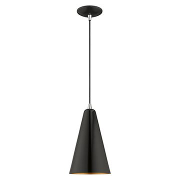 Livex Lighting 7 3/8 Inch Cone Metal Shade Mini Pendant
