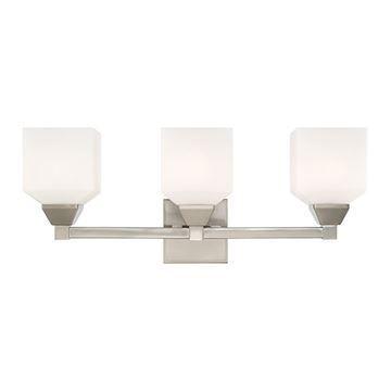 Livex Lighting Aragon Satin 3-Light Vanity Fixture