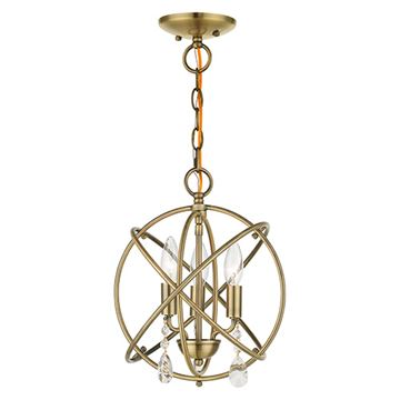 Livex Lighting Aria Convertible Chandelier/Semi Flush Light