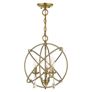 Livex Lighting Aria Large Convertible Chandelier/Semi Flush Light