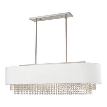 Livex Lighting Carlisle Large Linear Chandelier - Off White