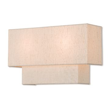 Livex Lighting Claremont 13 Inch Oatmeal Wall Sconce