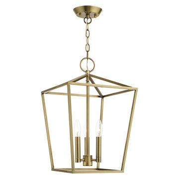 Livex Lighting Devonshire Large Convertible Semi Flush/Lantern Light