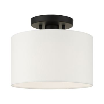 Livex Lighting Meridian 10 Inch Semi Flush Light