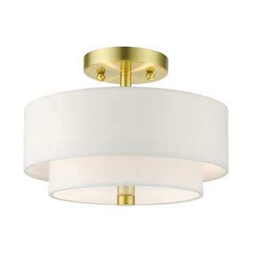 Livex Lighting Meridian 11 Inch Double Shade Semi Flush Light